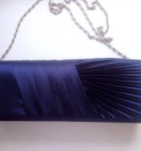 Клатч, темно-синий