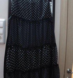 Платье в горошек, новое