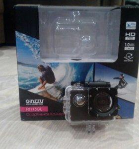 Экшн камера Ginzzu FX115GL спортивная камера