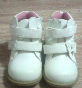 Весенние ботинки кожаные