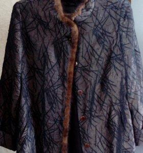 Куртка с нат.крол.меха