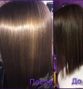 Кератиновое выпрямление волос составом INOAR
