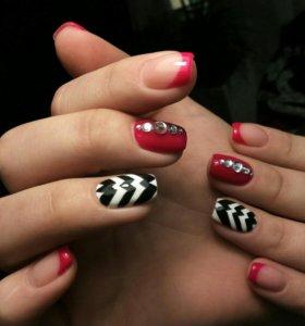 Наращивание ногтей (Салон Алексия Хром)