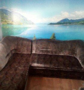 Угловой диван + кресло