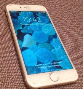 iPhone 6 на 64gb золотой