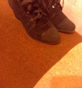 Ботиночки замшевые (натуральная замша), новые. Раз