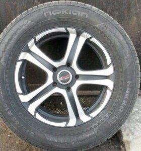 Диски в комплекте с летней резиной на VW Tiguan