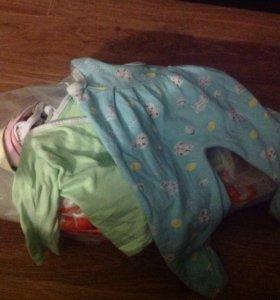 Вещички для ребёнка от 3 до 6 месяцев пакетом