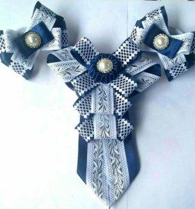 Резинки, заколки, ободки, броши, галстуки,
