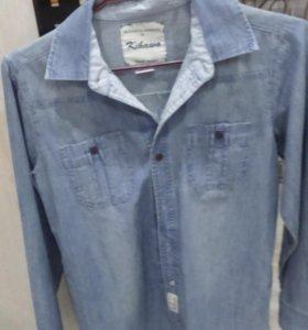 Рубашка джинсовая новая, на рост 150 см