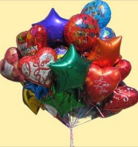 Латексные и фольгированные шары с гелием