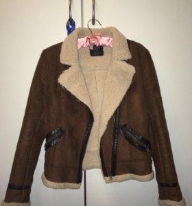 Куртка зимняя дубленка zara