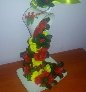 Кружка с цветами (парящая)