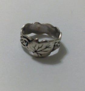 Кольцо серебро, 925, 16.5