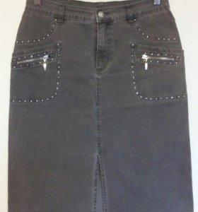 Юбка джинсовая р.46-48