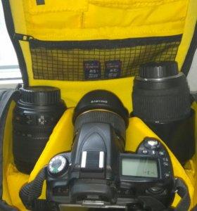 Nikon D90 + 3 объектива