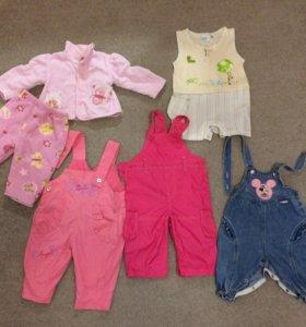 Одежда на девочку( брюки и полукомбинезон)
