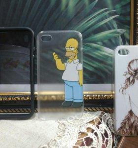 Чехлы и бампер на iphone 4/4s.🌿