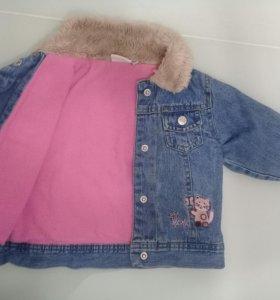 Джинсовая курточка на флисе