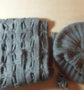 Шапка и шарфик для девочки НОВЫЙ