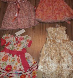 платья 4 шт(от 2 до 3.5 лет)