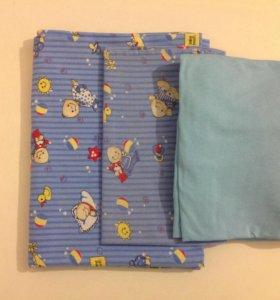 Постельное белье для малыша в кроватку
