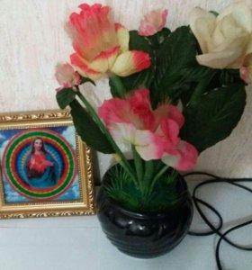 Цветочек и картина