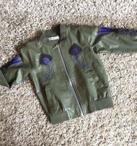 Детская куртка кожзам