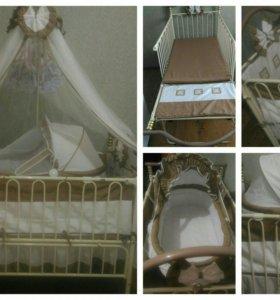 Детская кроватка с рождения до 7 лет