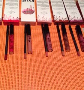 Жидкая матовая помада+карандаш Kylie