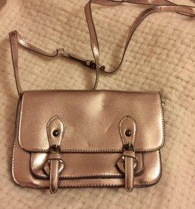 Новая сумочка модный золотой