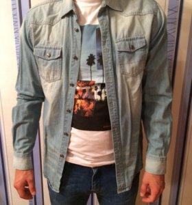 Джинсовая рубашка Springfield
