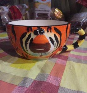 Большая чашка ☕️ тигрёнок
