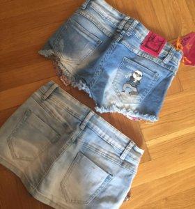 Джинсовые шорты и юбка-шорты