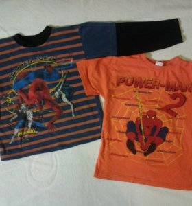 SPIDER MAN лонгслив, футболка 4-5 лет
