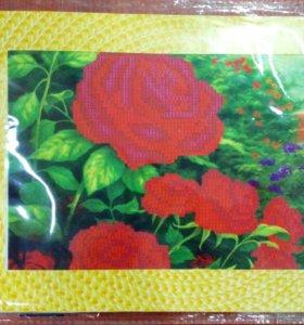 """Набор для вышивания бисером """"Розы"""""""