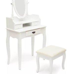 Туалетный столик с пуфиком 3024 белый