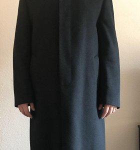 Мужское пальто с норковым отстегивающимся воротник