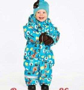 Зимний комбинезон и шапка