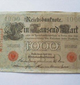 Банкнота Германия 1910г
