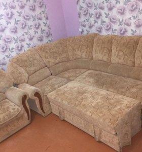 Мягкий уютный уголок (диван+кресло)