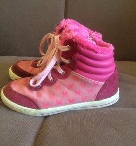 Тёплые ботинки на девочку