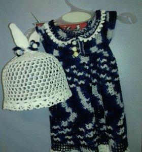 Платье (для девочки 3-4мес.)