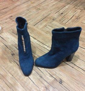 Ботинки женские новые нат замша