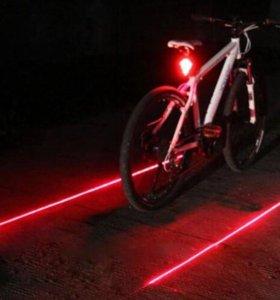 Велосипедная сигнальная LED-фара с креплением