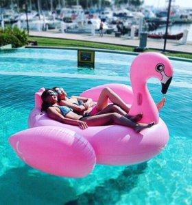 Надувной матрас фламинго
