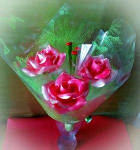 Розы из КАРАМЕЛИ!
