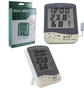 Термометр+гигрометр+часы
