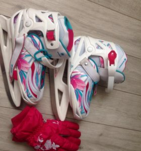 Продаются коньки + перчатки