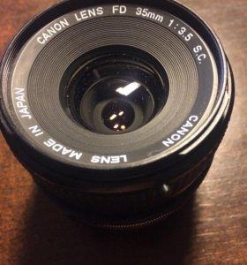 Объектив Canon FD 35mm